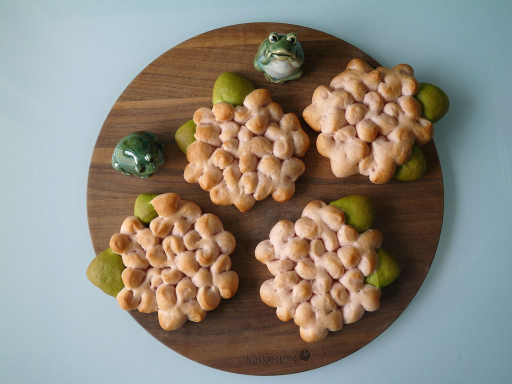 「あじさいパン」の作り方☆6月!豆乳生地で作る季節のパン