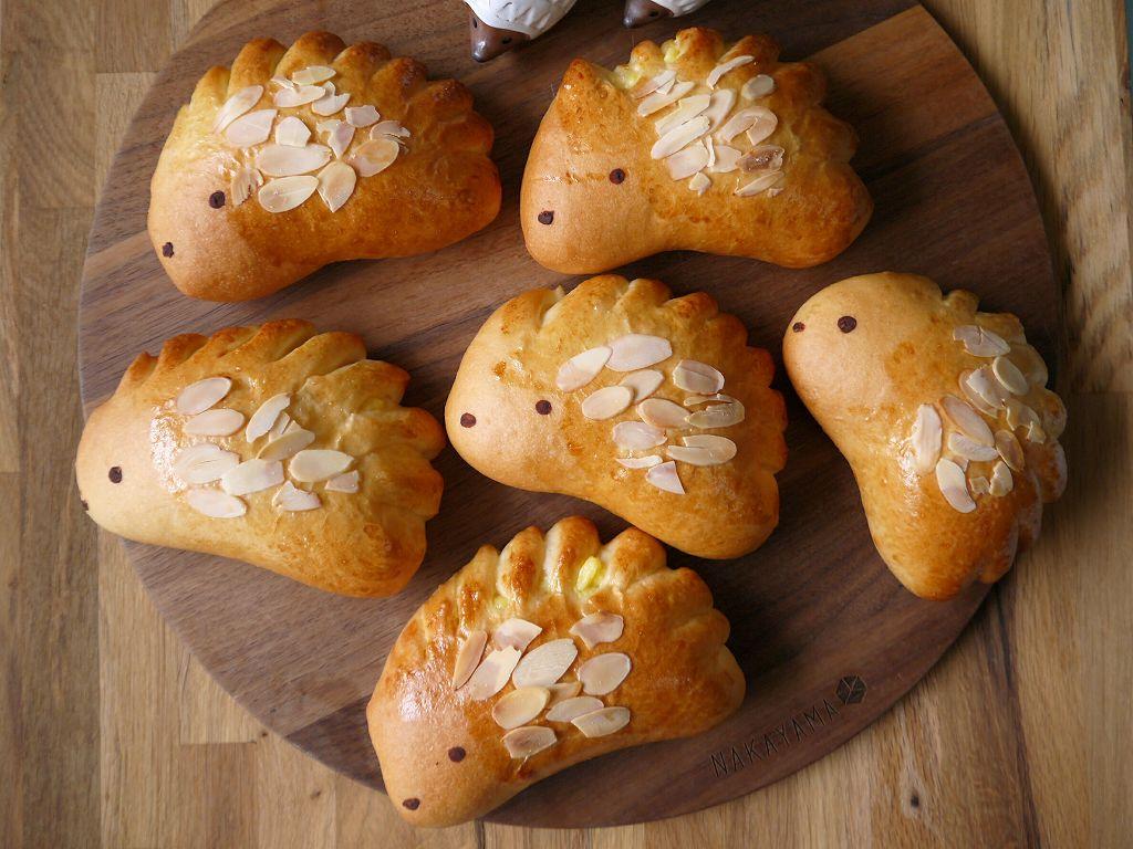 「クリームたっぷり!はりねずみパン」の作り方☆クリームパンアレンジ