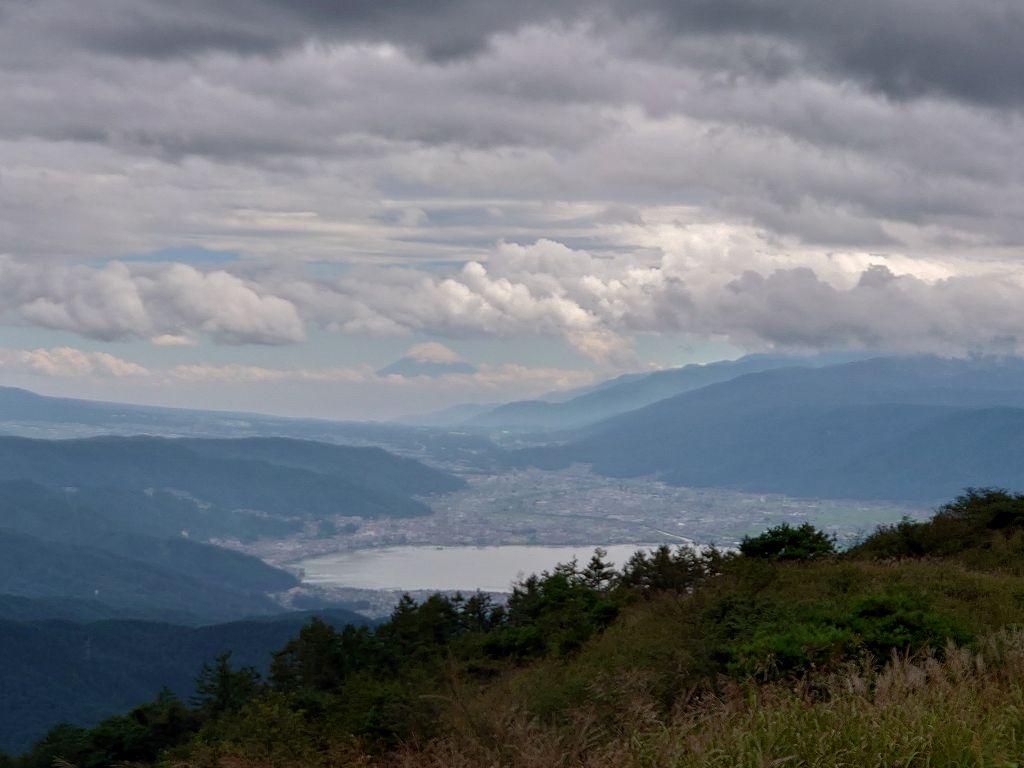 「高ボッチ高原(長野県塩尻市)」日本一のシャッターポイントからの諏訪湖&富士山