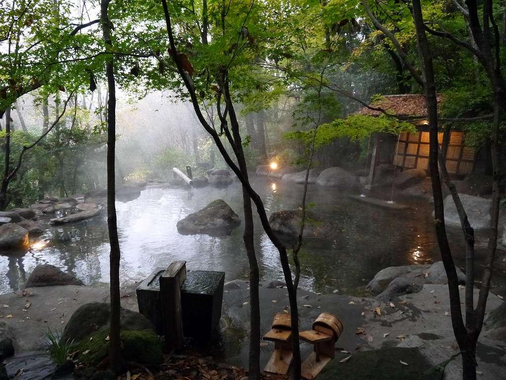 大分県☆湯布院の宿「おやど 二本の葦束」11の離れと貸切温泉の隠れ里