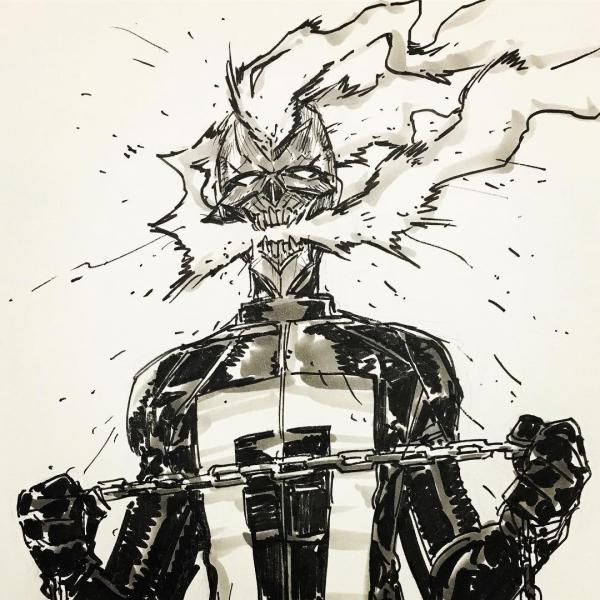Takeshi Miyazawa Ghost Rider bust