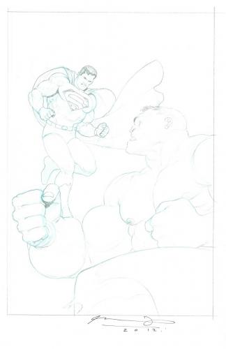 Ariel Olivetti Superman Hulk