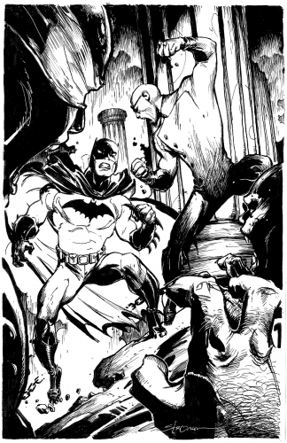 Larry Stroman Batman Monstermen