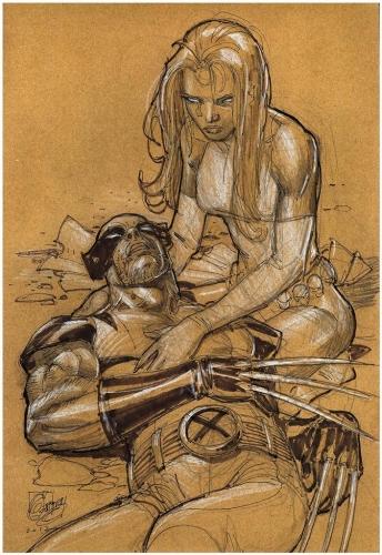Ron Garney Wolverine Mystique