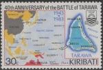 キリバス・タラワの戦い40年(地図)