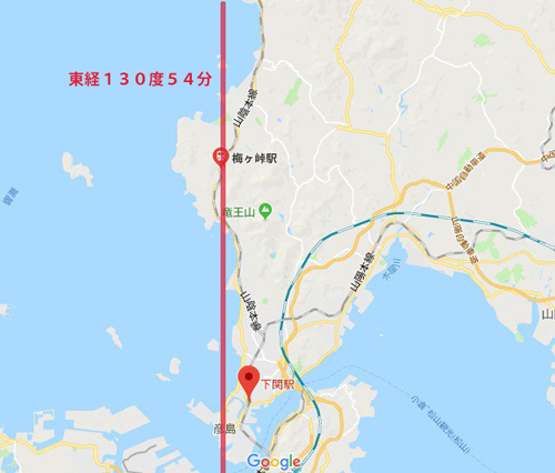 梅ヶ峠駅位置関係-経線つき