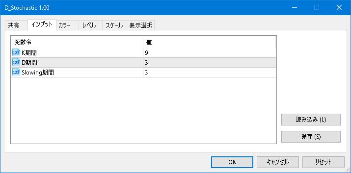 D_Stochasticパラメータ設定